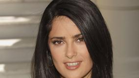 Salma Hayek Cute Brown Eyes N Wet Lips Face Closeup